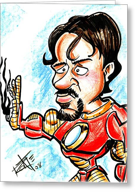 Ironman Greeting Card by Big Mike Roate