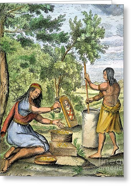 Iroquois Women, 1664 Greeting Card by Granger