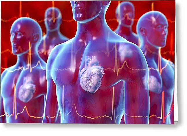 Irregular Heartbeat, Conceptual Artwork Greeting Card by David Mack