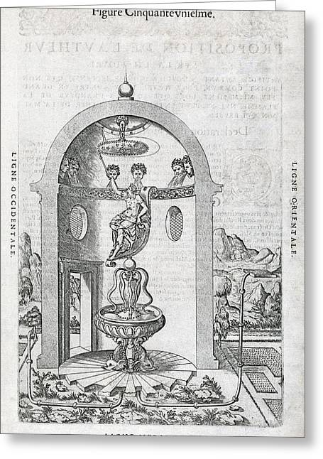 Irrigation System, 16th Century Artwork Greeting Card by Middle Temple Library