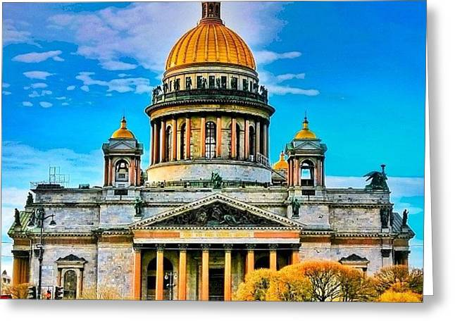 Isaak's Cathedral The Heaviest Greeting Card by Tommy Tjahjono