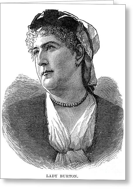 Isabel Burton (1831-1896) Greeting Card by Granger