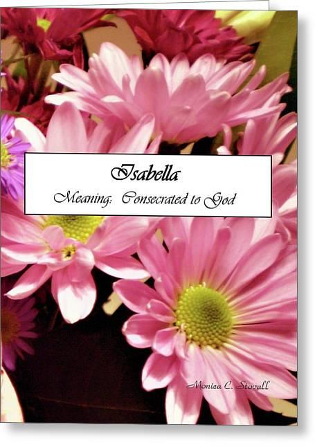 Isabella - Name Poster Greeting Card