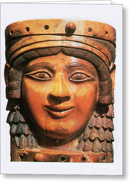 Ishtar, Babylonian Goddess Greeting Card by Photo Researchers