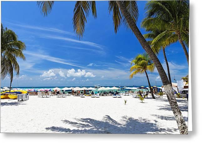 Isla Mujeres Beach Scenic Greeting Card