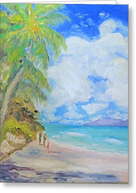 Island Beach Greeting Card