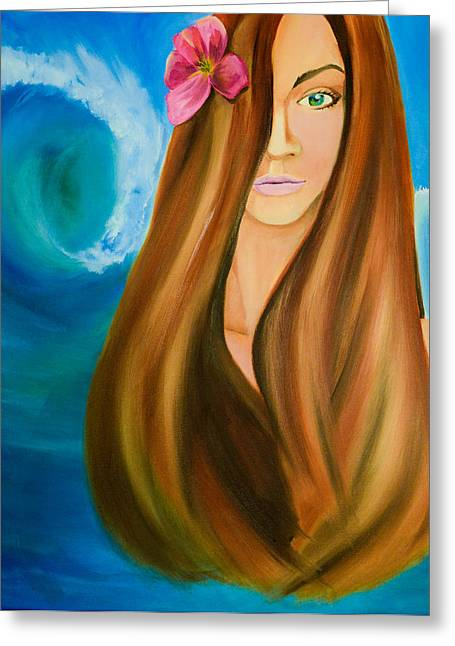 Island Beauty Greeting Card by Chris  Leon