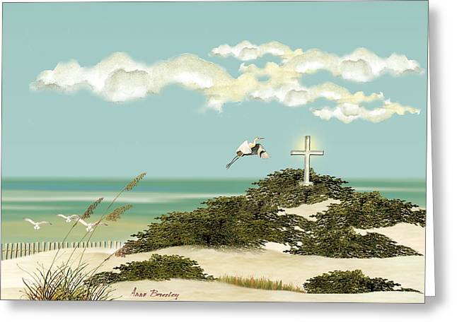 Island Cross Greeting Card
