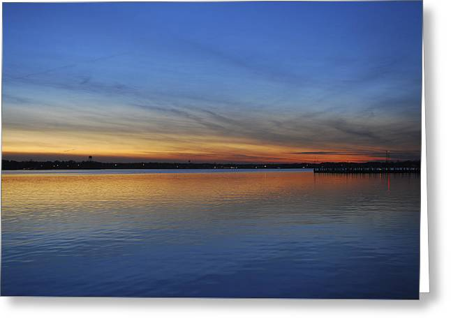 Island Heights At Dusk Greeting Card by Terry DeLuco