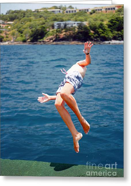 Island Hopping Boy Greeting Card by Vicki Ferrari