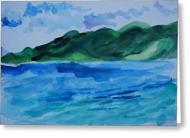 Island Landscape Greeting Card by Rufus Norman