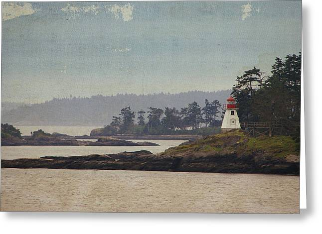 Island Lighthouse - Textured Greeting Card by Marilyn Wilson