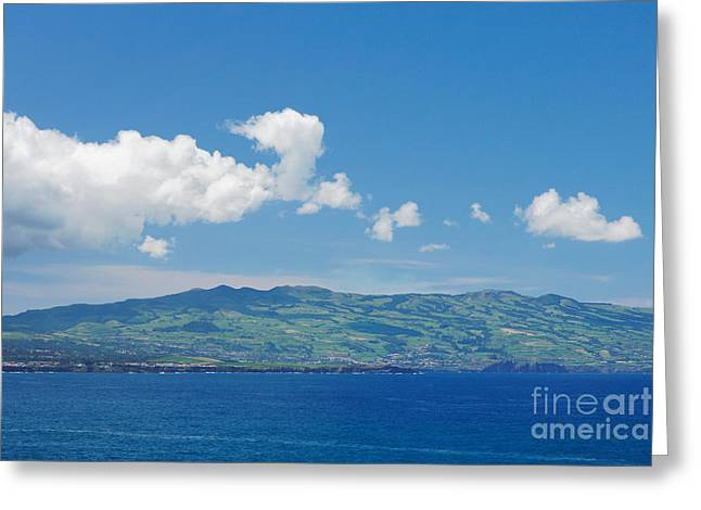Island On The Horizon Greeting Card by Gaspar Avila