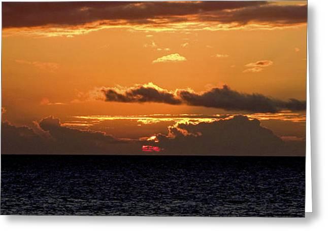 Island Sunset Greeting Card by Michael Flood
