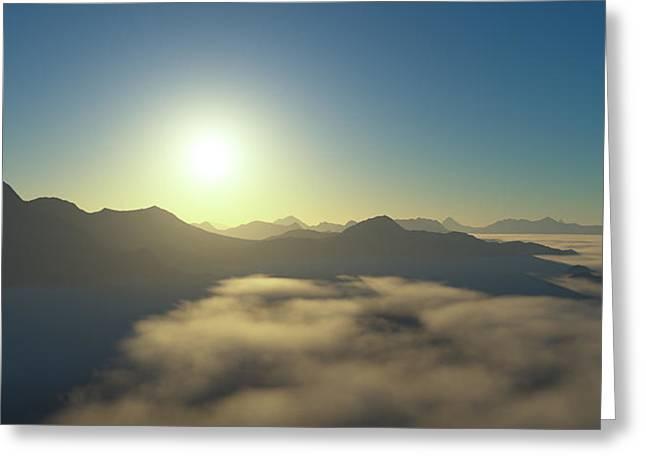Islands In An Ocean Of Clouds Greeting Card