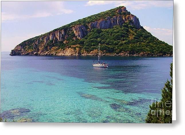 Isola Di Figarolo - Sardinia Greeting Card by John Clark