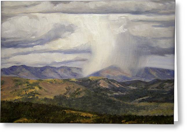 Isolated Showers Greeting Card by Victoria  Broyles