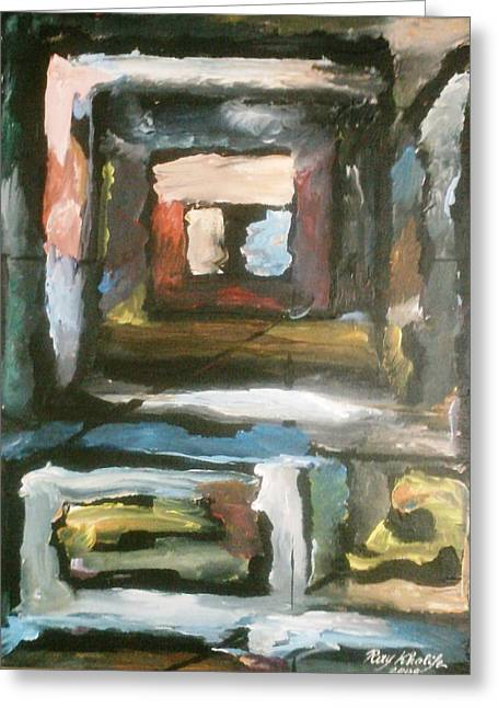 Greeting Card featuring the painting Isolation by Ray Khalife