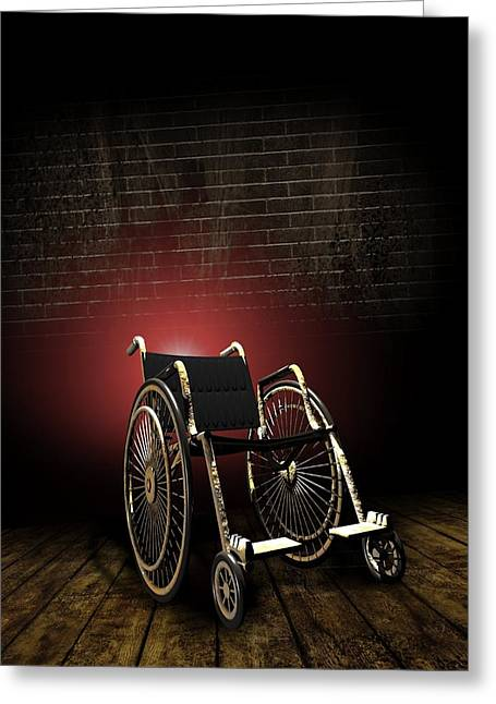 Isolation Through Disability, Artwork Greeting Card by Victor Habbick Visions