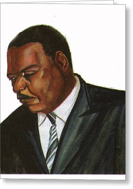 Issa Hayatou Greeting Card by Emmanuel Baliyanga