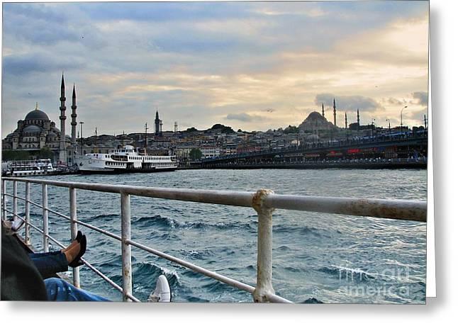 Istanbul  Greeting Card by Bener Kavukcuoglu