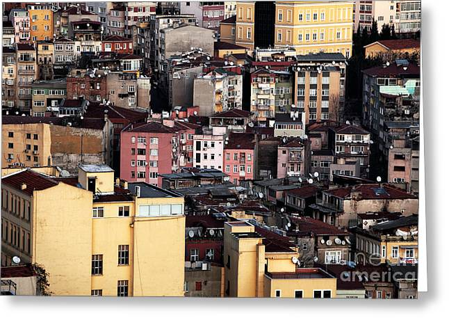 Istanbul Cityscape Vii Greeting Card by John Rizzuto
