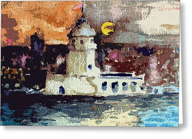 Istanbul Constantinople Greeting Card by Mindy Newman
