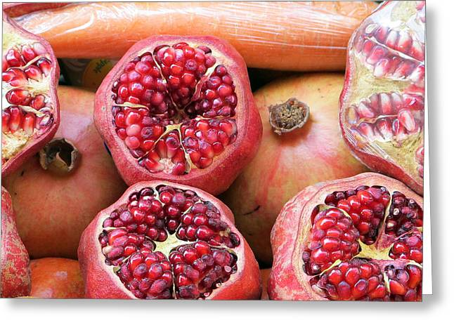 Istanbul Pomegranates Greeting Card by Mirinda Kossoff