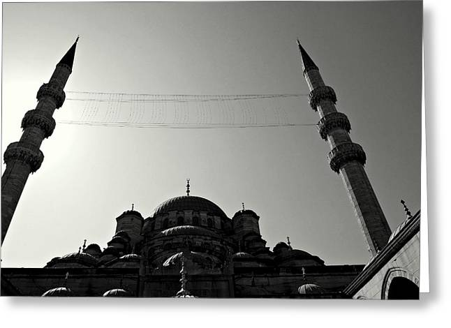 Istanbul's Yeni Camii Or New Mosque Greeting Card