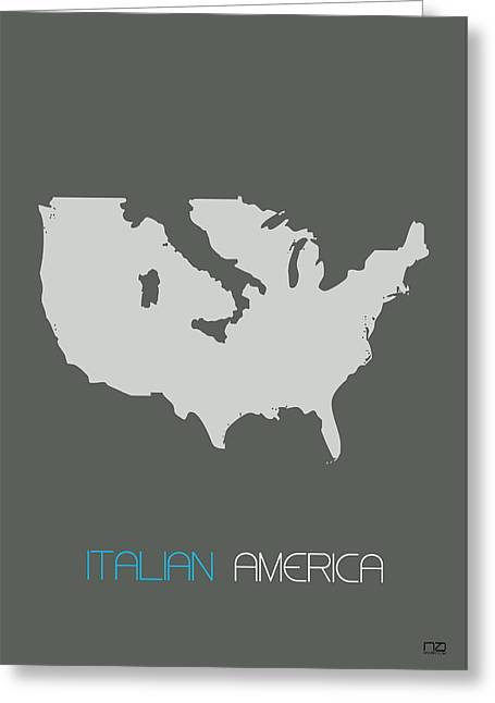 Italian America Poster Greeting Card by Naxart Studio