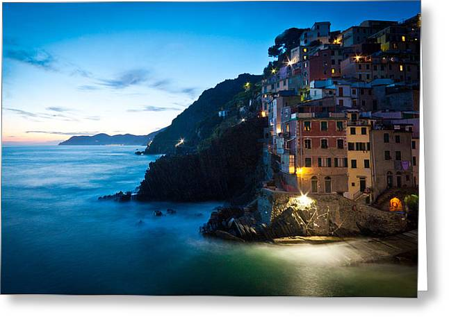 Italian Coast Romance Greeting Card by Mike Reid