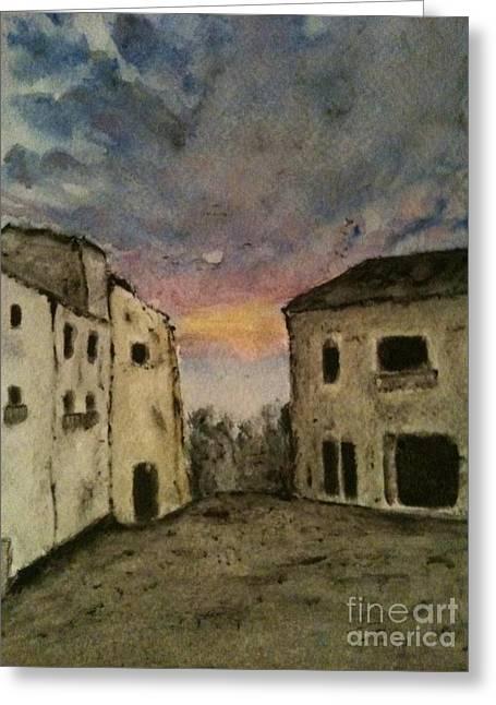 Italian Landscape Greeting Card by Nicla Rossini