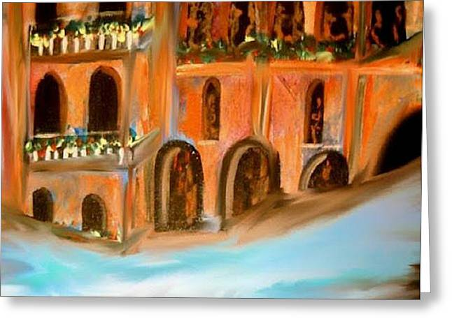 italian Palazzo Greeting Card by Kelly Turner