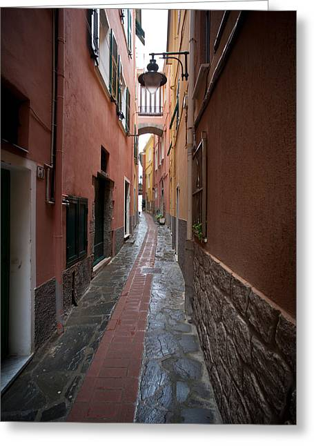 Italian Pathway Greeting Card by Mike Reid