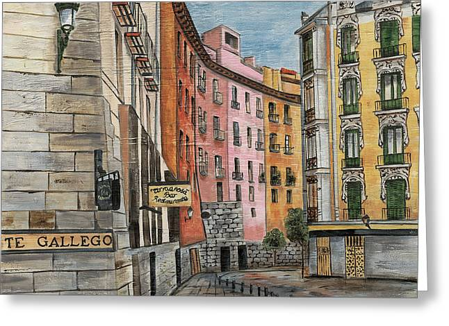 Italian Village 2 Greeting Card by Debbie DeWitt