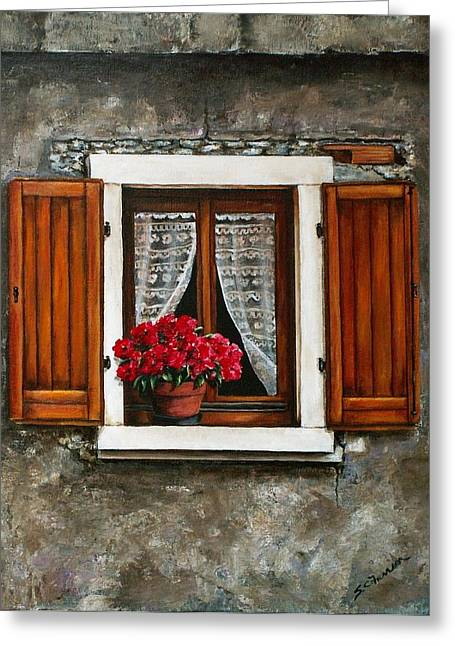 Italian Window Greeting Card