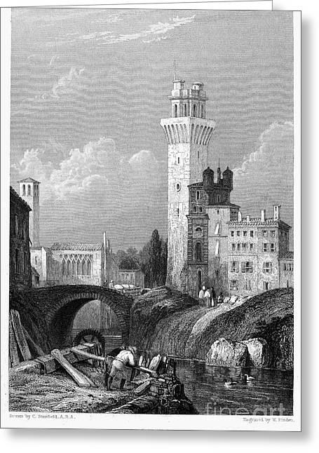 Italy: Padua, 1833 Greeting Card by Granger