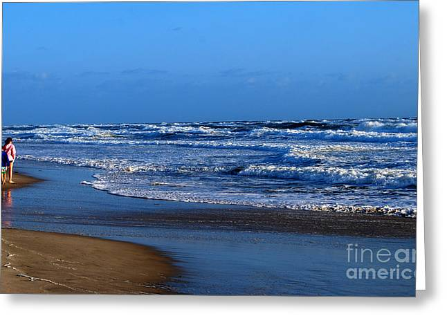 Greeting Card featuring the photograph It's A Big Ocean Out There by Linda Mesibov