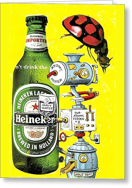 It's Still Beer Greeting Card by Rob M Harper