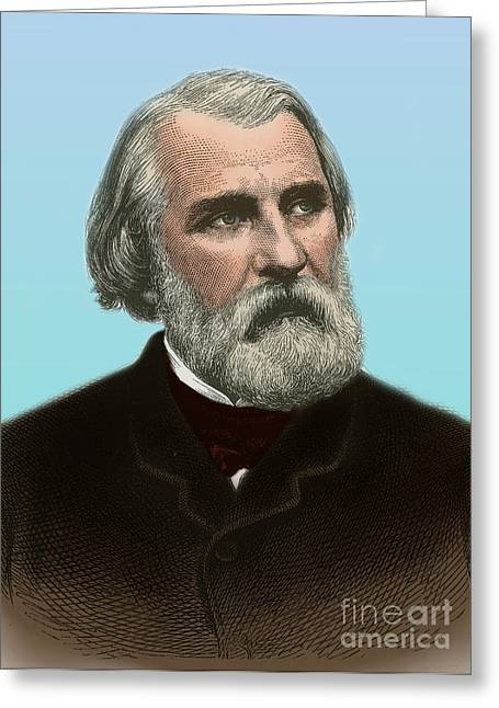 Ivan Turgenev, Russian Author Greeting Card by Science Source