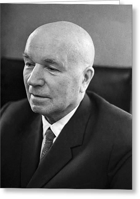 Ivan Vinogradov, Soviet Mathematician Greeting Card by Ria Novosti