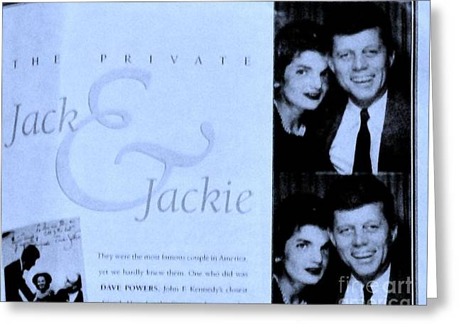 Jack And Jackie In Life Magazine Greeting Card by Marsha Heiken