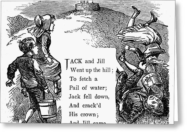 Jack And Jill Greeting Card by Granger