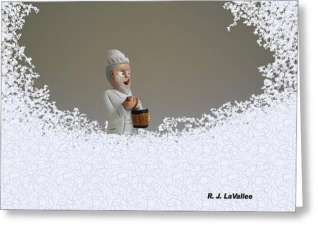 Jack Frost... Caught In The Act. Greeting Card