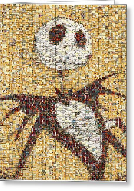 Jack Halloween Mosaic Greeting Card by Paul Van Scott