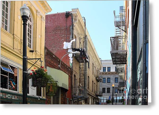 Jack Kerouac Street San Francisco Greeting Card by Wingsdomain Art and Photography