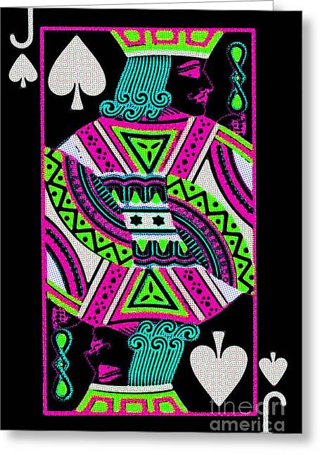 Jack Of Spades Greeting Card by Wingsdomain Art and Photography