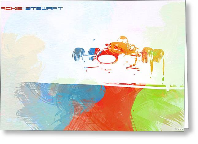 Jackie Stewart Greeting Card by Naxart Studio