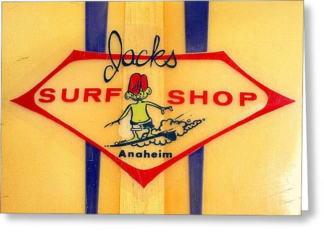 Jacks Surf Shop Greeting Card