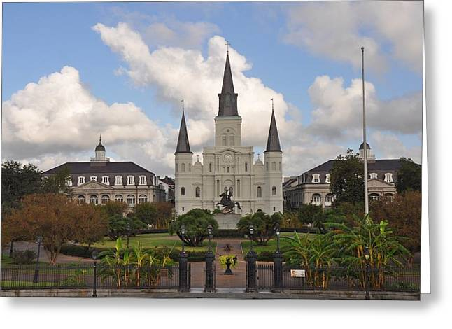 Jackson Square New Orleans Greeting Card by Bill Cannon